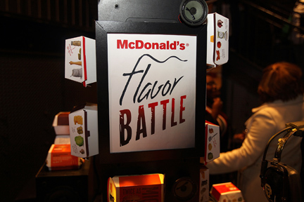 IMG 7615 2 lr Event: McDonalds Flavor Battle Launch Party.