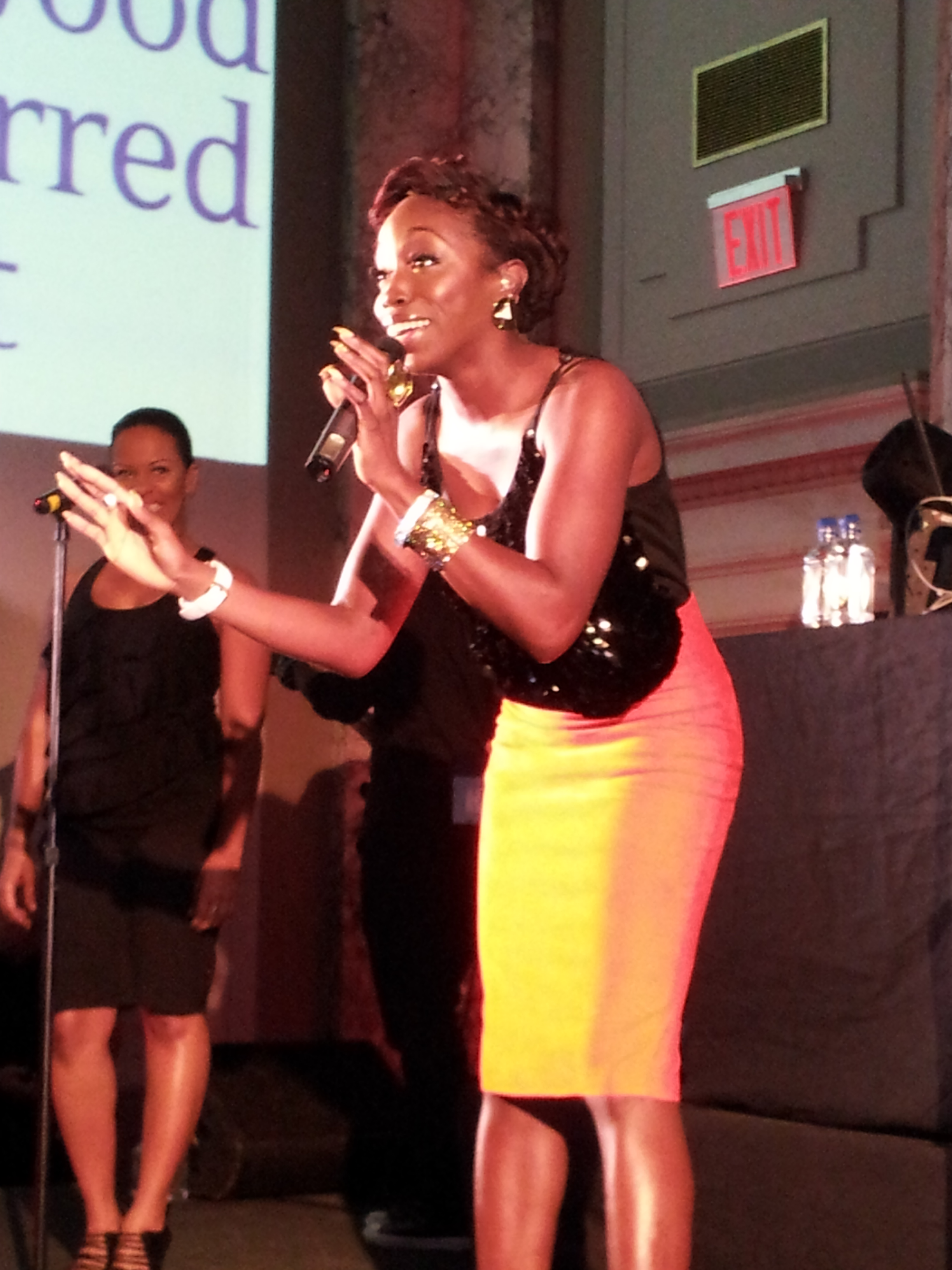 Estelle at the Starwood Preferred Guest Event in NYC