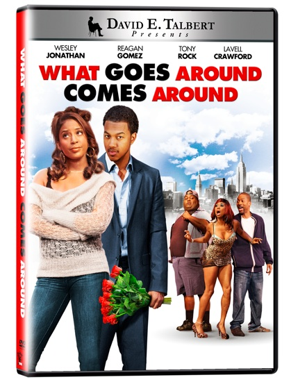 cover artwork Trailer: What Goes Around Comes Around featuring Wesley Jonathan and Reagan Gomez.