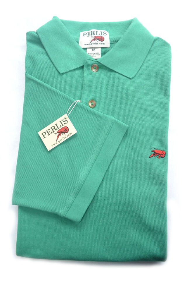The Crawfish Polo in Kelly Green by Perlis