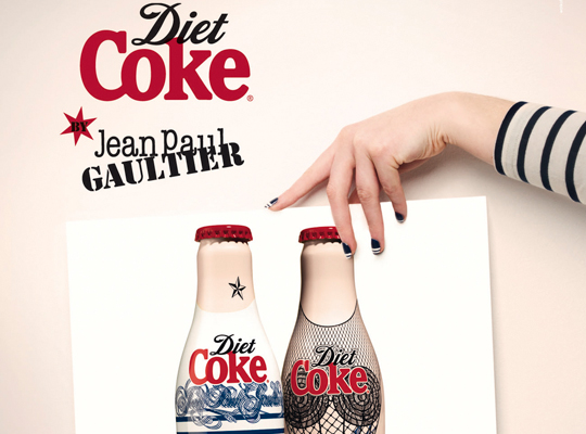 diet coke jean paul gaultier 0 Jean Paul Gaultier Sexes Up Diet Coke.