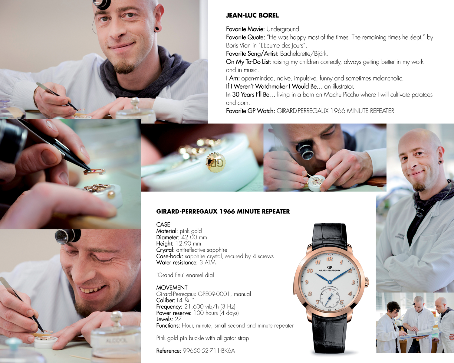 INTERIEUR ENGLISH14 Girard Perregaux Unveils Industry First Print and Online Journal: The New Face of Tradition, Eight Young Watchmakers and the Art of Making Time.