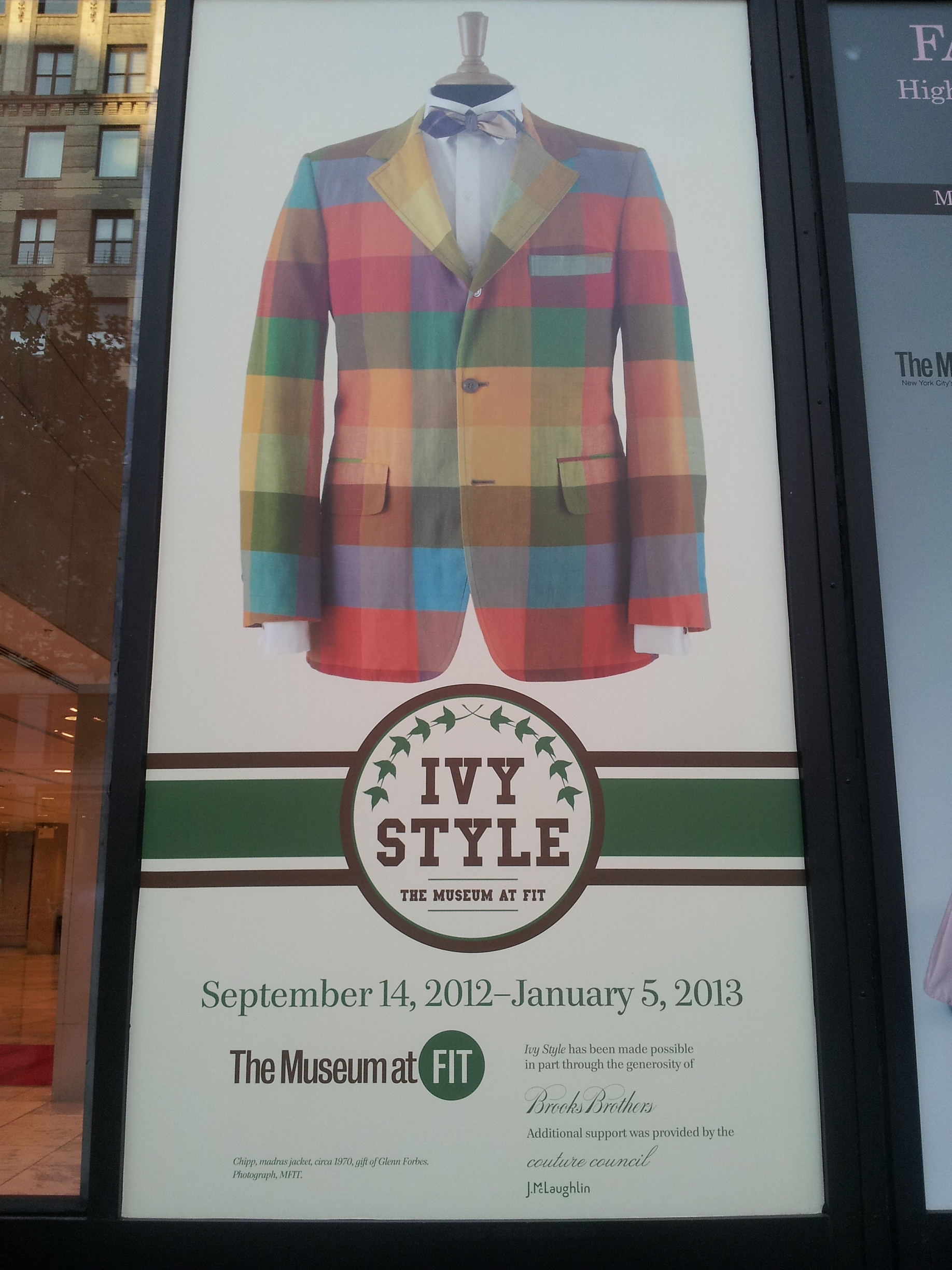 Ivy Style Exhibit: Ivy Style at Fashion Institute of Technology Museum (NYC).