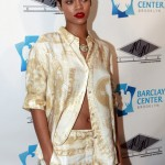 Rihanna at 40/40 Club Grand Opening in the Barclays Center