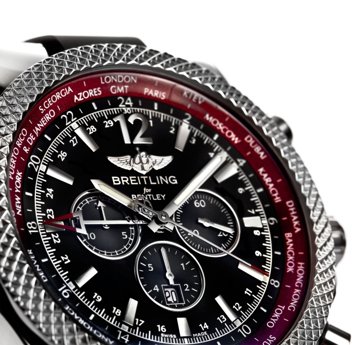 breitling for Bently3 Feel the Need for Speed with the Breitling for Bentley Limited Edition GMT V8 Watch.