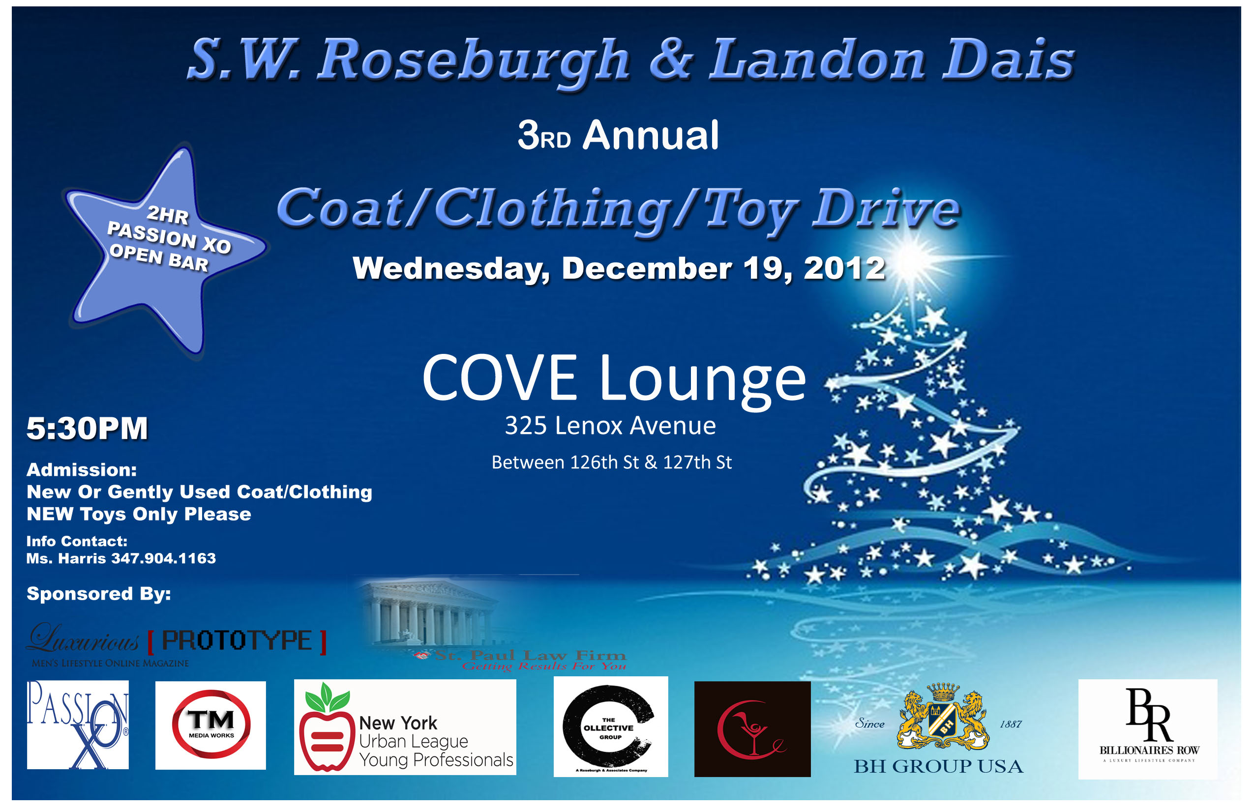 Coatdrive2012Final Invite: S.W. Roseburgh & Landon Dais 3rd Annual Coat/Clothing & Toy Drive