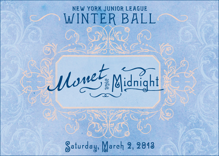 "Monet Website Image Invite: NYJL 61st Annual Winter Ball, ""Monet at Midnight"""
