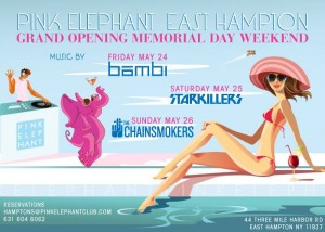 Pink Elephant Hamptons Memorial Weekend 2013