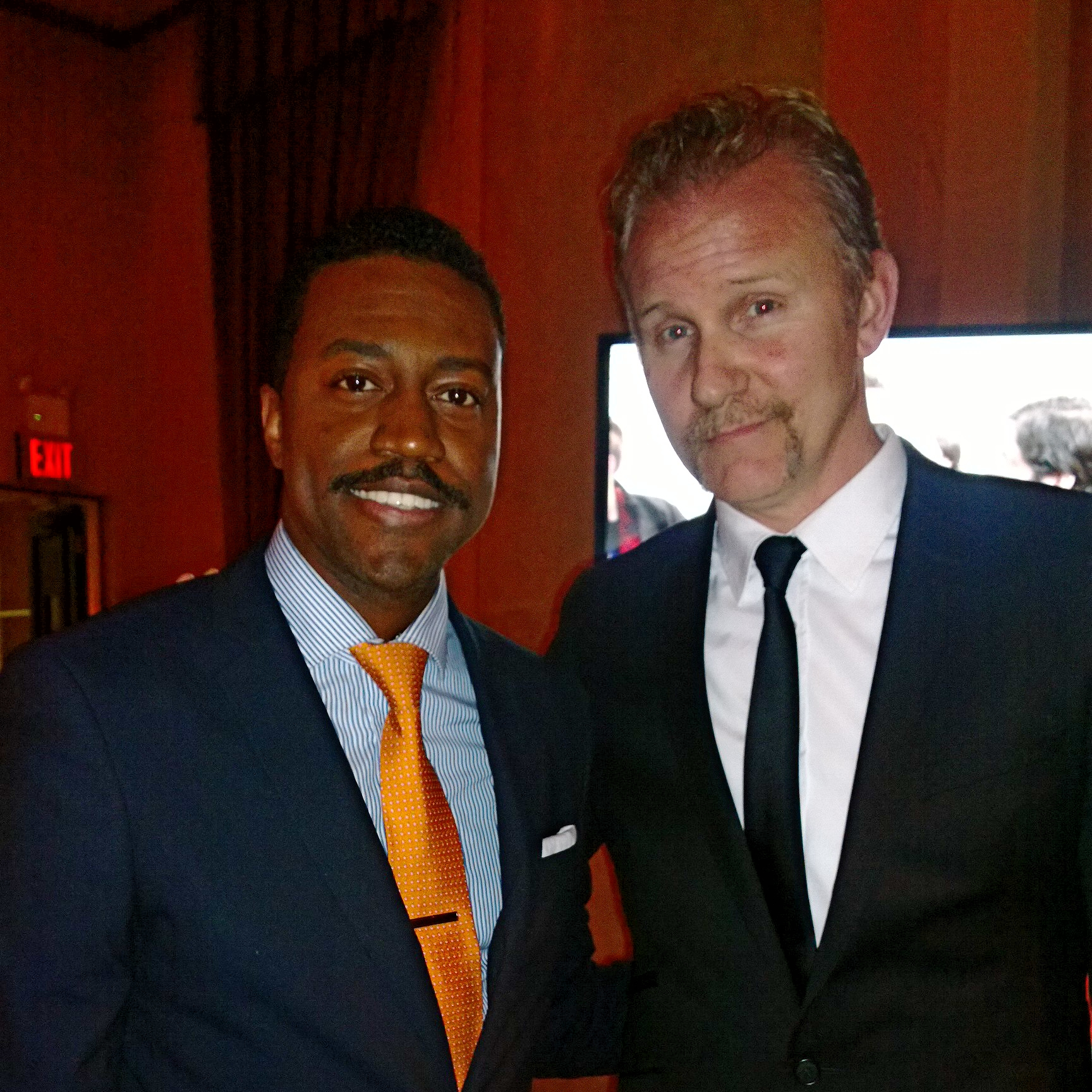 Phaon Spurlock and Morgan Spurlock at the Gotham Awards
