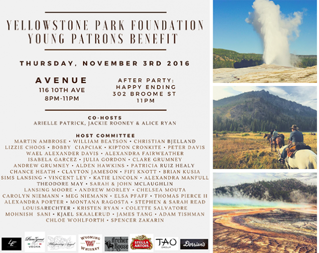 Invite: Yellowstone Park Foundation Young Patrons Benefit