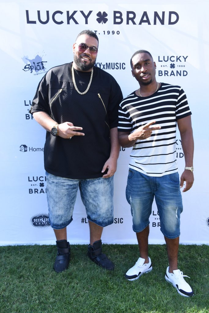 Dominic Santana and Demetrius Shipp Jr attend Lucky Lounge Presents Desert Jam