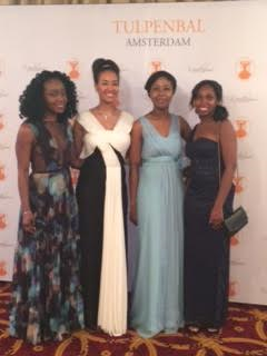 Sherniece Campbell, Allison Ecung, Guest and Gemma Thomas at the Grand Ball