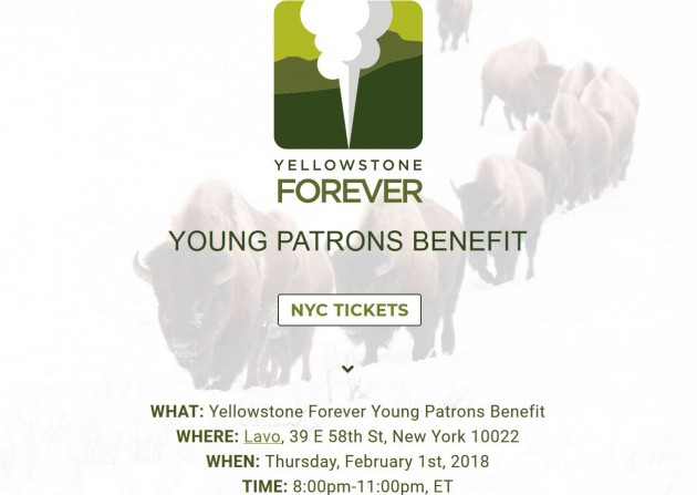 Invite: Yellowstone Forever Young Patrons Benefit 2018